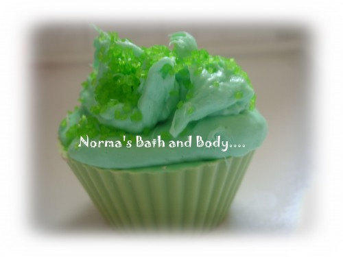 lime cupcake soap, lime soap, kids soap, cupcakes, dessert soap, desserts, norma
