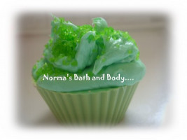 lime cupcake soap, lime soap, kids soap, cupcakes, dessert soap, desserts, norma - $4.75