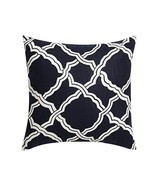 Reqo365 Kendra Durable Cotton Linen Square Decorative Throw Pillows Cush... - £18.14 GBP