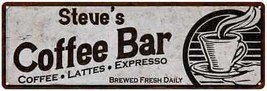 Steve's Coffee Bar Chic Sign Home Kitchen Décor Gift 6x18 6180007278 - $26.95+