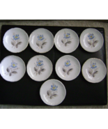 (9) Beautiful Antique Gold Rimmed Porcelain Individual Butter Dishes- Pe... - $97.85