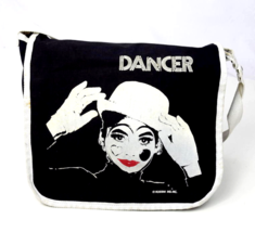 Vtg 80s Black White Crossbody Bag Messenger Satchel Purse Rossini Dancer... - $19.79