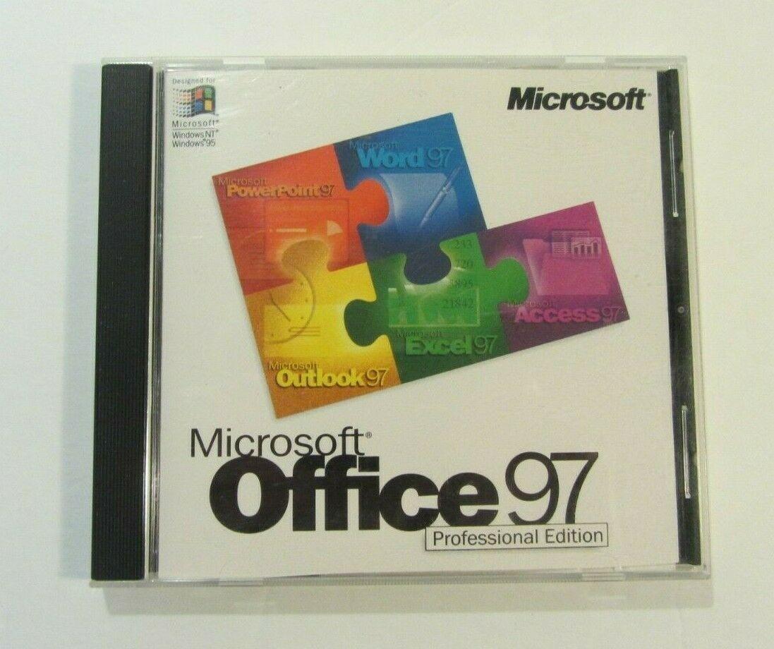 Microsoft Office 97 Professional Edition PC CD-ROM- Windows 95/NT