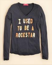 me.n.u. Girls' I Used to Be a Rockstar Tee, Dark Gray, Size 7, MSRP $48 - $20.56