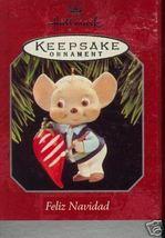 "Hallmark Keepsake1998 ""Feliz Navidad"" Mouse with flag Orname - $6.95"