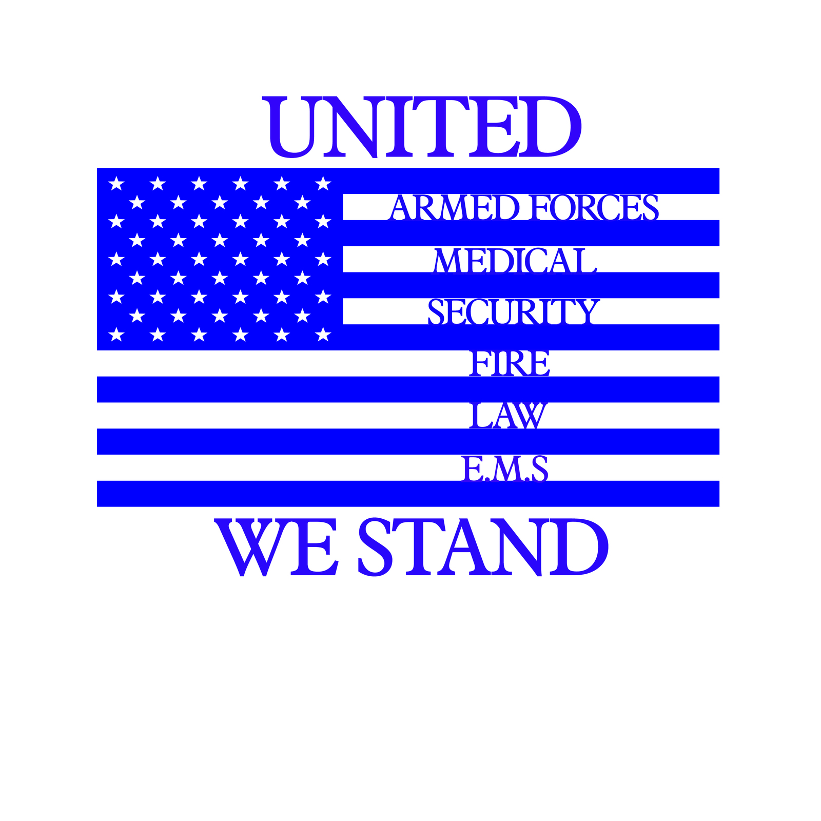 United we stand emergency response teams flag decal awareness sticker image 3