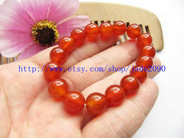 Free Shipping - Grade AAA Natural Red Jadeite Jade charm beaded prayer B... - $19.99