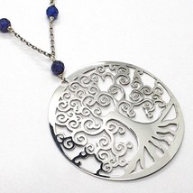 925 Silver Necklace, Lapis Lazuli, Pendant Locket Tree Of Life image 2