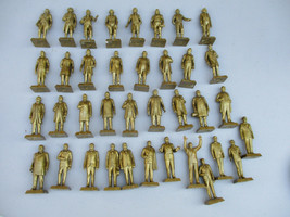 Marx Gold President set Vintage Original Character Figures Rare Nixon JFK  - $123.45