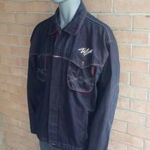 Willie Esco Duns Dungaree Corp Maroon dark blue Denim Long Sleeve Shirt ... - $60.96