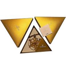 Swarovski 2012 Gold Tone Christmas Star / Snowflake, Mint w box & triang... - $199.99