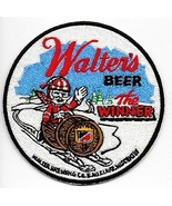 Snowmobile & Walter's Beer ''The Winner'' Au Claire, Wisconsin Promo Pat... - $9.99