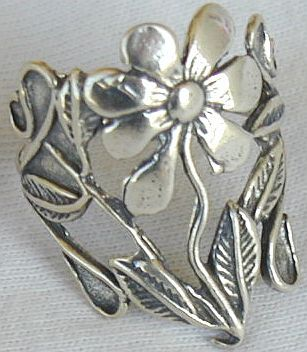 Primary image for Silver flower ring