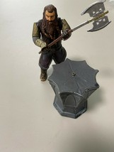 Figurine Gimli + Base the Lord of Rings 2001 Marvel Figure Lord of Ring - $12.38