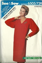 See And Sew Sewing Pattern 6505 739 Misses Womens Dress Size 8 10 12 Used - $9.98