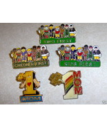 Lot 5 Lapel Pins Children & Kids First # Number 1 Mom - $5.49
