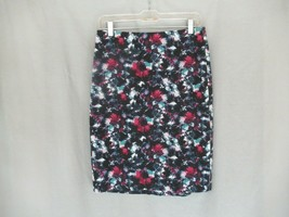 Talbots skirt pencil straight Size 4 multi abstract floral unlined knee ... - $14.65
