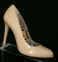 Jessica Simpson beige patent leather round toe slip on pump heels 8M 7301 - $33.30