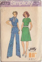 SIMPLICITY PATTERN 6273 SIZE 12 MISSES' DRESS OR TOP AND PANTS - $3.90