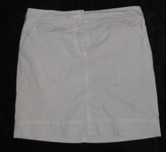 Ann Taylor LOFT Gray White Pinstripe Skirt Size 8 - $18.58
