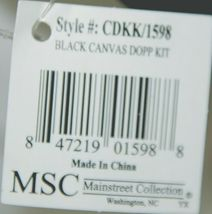 Mainstreet Collection CDKK1598 Vintage Style Travel Luggage Mens Dopp Kit image 5