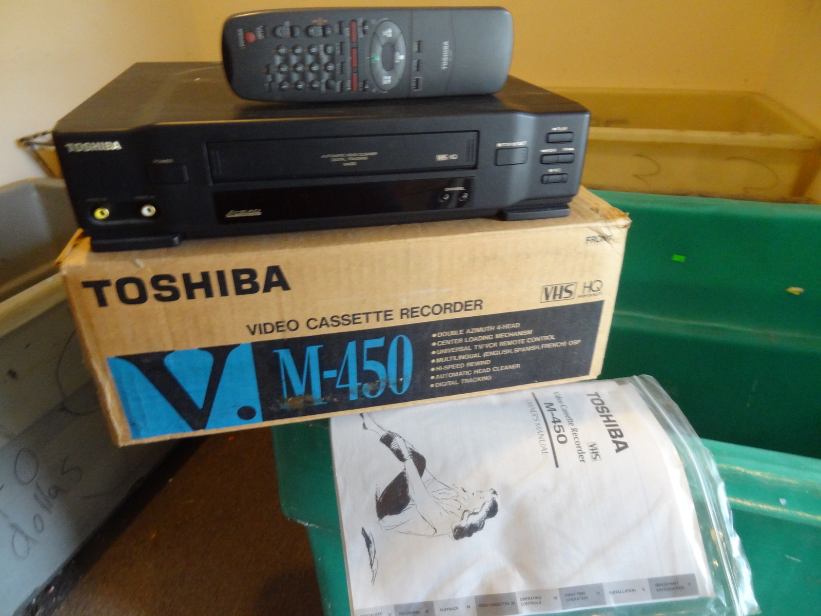 Toshiba M-450 Vhs Vcr Player W/ Remote Video and 50 similar items