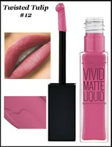 2 X Maybelline Color Sensational Vivid Matte Liquid Lipstick TWISTED TUL... - $9.75