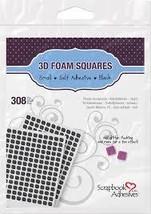 """Black Foam Squares. 0.25"""" Square"""