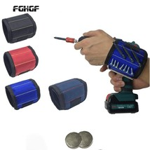 Polyester Magnetic Wristband Portable Tool Bag Electrician Wrist Tool Be... - £8.08 GBP
