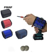 Polyester Magnetic Wristband Portable Tool Bag Electrician Wrist Tool Be... - £8.07 GBP