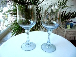 Set of 2 American Stemware Princeton Blue Crystal Water Goblets - $27.71