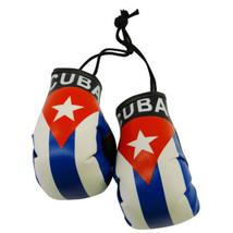 CUBA CUBAN FLAG MINI BOXING GLOVES ORNAMENT TREE CAR TRUCK MIRROR DECORA... - $7.16
