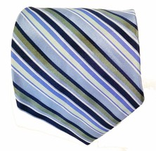 Express Silk Tie Multi Blue with Green Stripes - $9.79