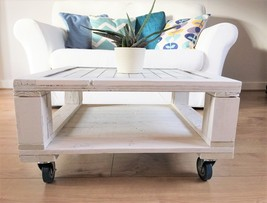 Handmade pallet coffee table with tiled top  - $175.00