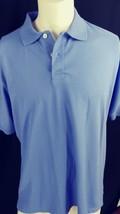 Izod Mens Polo Shirt Pima Cotton Size (L) Light Blue 2 Button Short Sleeve - $17.82