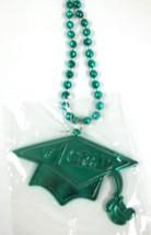 Green #1 Grad Cap Tassel Graduation Double Sided Mardi Gras Disco Ball Bead - $4.89 CAD