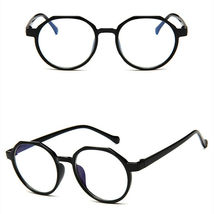 New Oval Fashion Classic Clear Lens Glasses Frame Retro Casual Daily Eyewear image 4