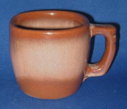 Frankoma Plainsman Brown Satin Mug Mid Century Squarish 1950s Retro Pott... - $10.00
