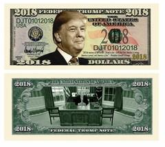 Pack of 25 - Donald Trump 2018 Presidential Novelty Dollar Bill - $19.75