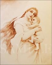 Madonna and Child Picture 8X10 Art Print Old Antique Vintage Photo Jesus... - $4.99