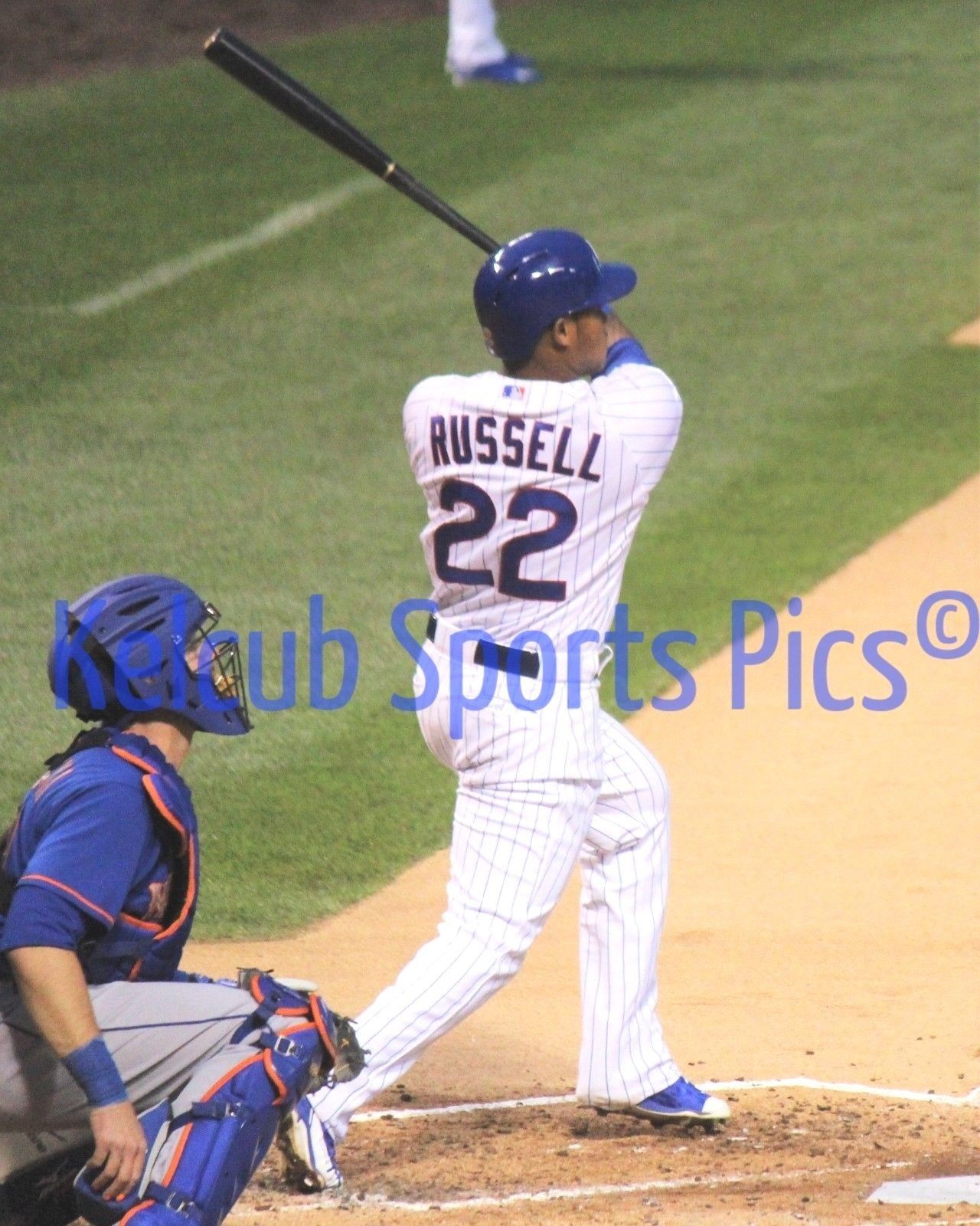Primary image for Chicago Cubs Addison Russell Original Game Rookie Action Pic Various Sizes