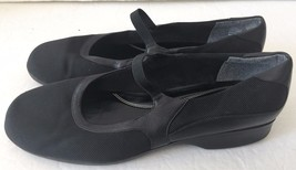 Naturalizer Black Stretch Fabric and Leather Mary Jane Ballet Flats Shoe... - $39.99