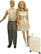 Mattel Barbie Philippines & Ken Blond Doll with white travelling bag - $37.62
