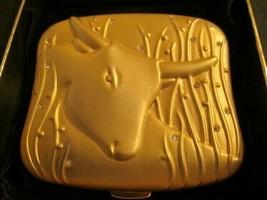 Estee Lauder 20K gold-plated 1996 Taurus powder compact with Swarovski crystals - $40.00