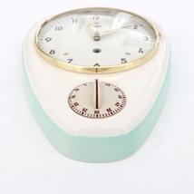 WEHRLE Wall Clock KITCHEN Timer ORIGINAL KEY! Vintage 1950s German Ceram... - $495.00