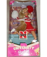 Mattel Barbie Doll University Nebraska Cheerleader 1996 red white uniform H - $47.77