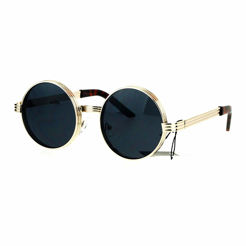 f596727970 ... PASTL Fashion Sunglasses Round Circle 3 Tiered Metal Frame Lite Gold