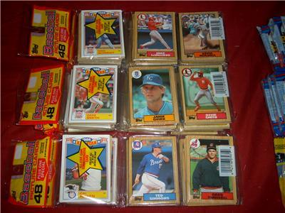 Primary image for 5000 OLD BASEBALL CARDS ALL IN UN-OPENED PACKS CASE LOT
