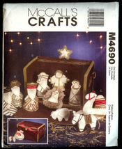 McCall's Crafts M4690 Nativity Collection Set Christmas Pattern - $8.95