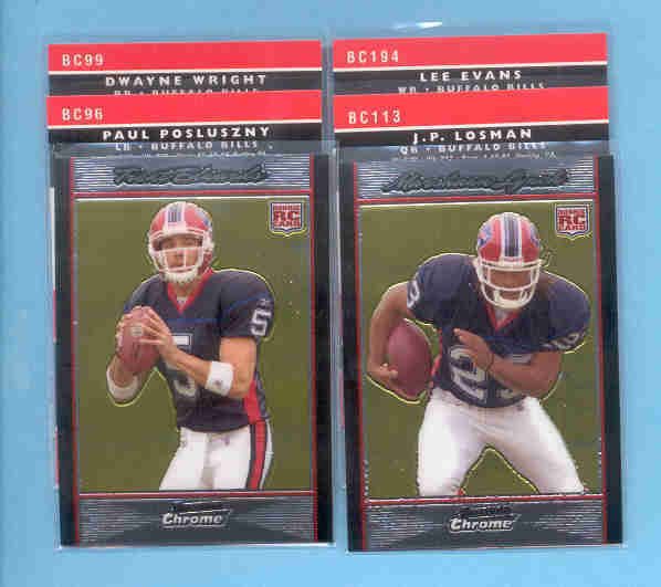 2007 Bowman Chrome Buffalo Bills Football Team Set